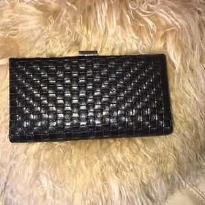 Black Basket Weave Clutch